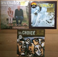 Great collection of limited editions on coloured vinyl by K's Choice II 3 LP's II Mint in sealing