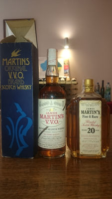 2 bottles - James Martin's whisky: 20 year old & VVO 'gold bar'