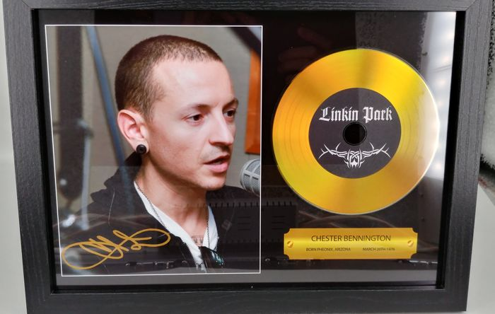Chester Bennington Linkin Park Gold Presentation Disc