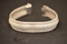 Superb 18 kt white GOLD bracelet, unique item. L 18.8 cm