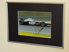 Mika Hakkinen - 2x Worldchampion Formula 1 -  hand signed framed photo + COA.