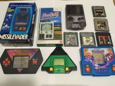 Lot of Electronic Games (Game Boy + Missilevader + Progolf + Wizard & Warriors + 2 other)