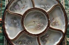 Porcelain sweetmeat serving dishes set - Japan - ca. 1930-40