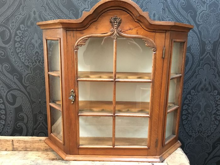 Oak display cabinet, Netherlands, mid-20th century