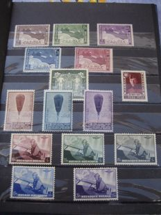 Belgium 1927/1957 – Selection of stamps between COB 249 and 1036