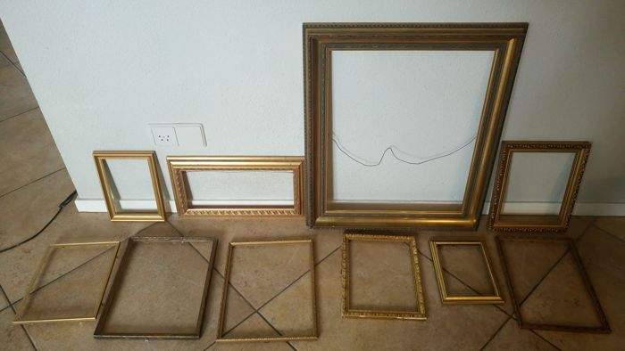 9e930554e8f A collection of ten very beautiful gold plated picture frames - Catawiki