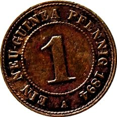 German Reich - 1 New Guinea Pfennig 1894