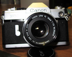 CANON FX camera in wonderful condition, with original lenses 50mm and 135mm