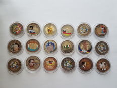 Europe - €2, 2004-2013, 18 colourful coins