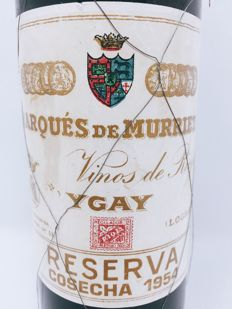 1954 Marqués de Murrieta Reserva DOC Rioja - 1 bottle