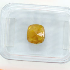 Diamond - 1.22 ct, NO RESERVE PRICE - Natural Fancy Intense Yellowish Orange, I3