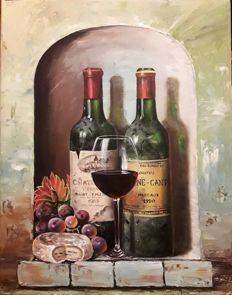 Vlad Pulika - Still life with wine bottles