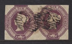 Great Britain 1854, Queen Victoria - 6th in a pair of unmarried - Stanley Gibbons 60