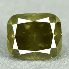 Diamond - 1.61 ct, Natural Fancy Intense Yellowish Green, Si2