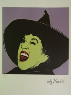 Wizard of Oz - Wicked witch Lithograph By Andy Warhol (after) - Signed And Numbered