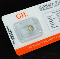 Diamond – 1.03 ct, Si1 – NO RESERVE PRICE, Natural Fancy Grayish Yellow