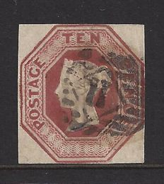Great Britain 1854, Queen Victoria - 10d imperforate, Stanley Gibbons 57