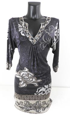 Hale Bob - beautiful silk designer print dress, KOF@
