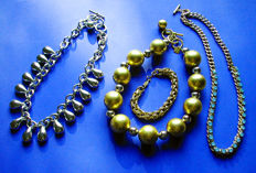 Amazing lot of 'Vintage 70's ANNE KLEIN' Necklaces and a Napier Bracelet !