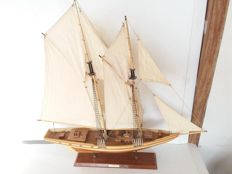 Large wooden sailing boat bluenose - Canada - ca. 1975.