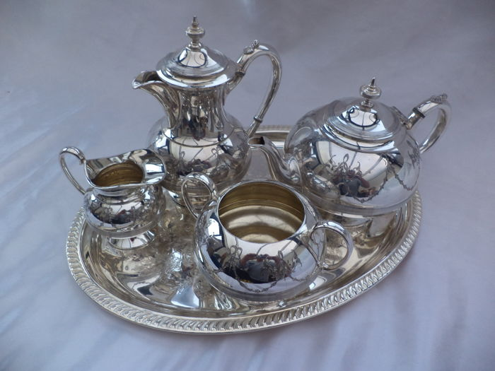PERKIN & SONS Silver plated tea and coffee dishes EPBM 9092  sheffield
