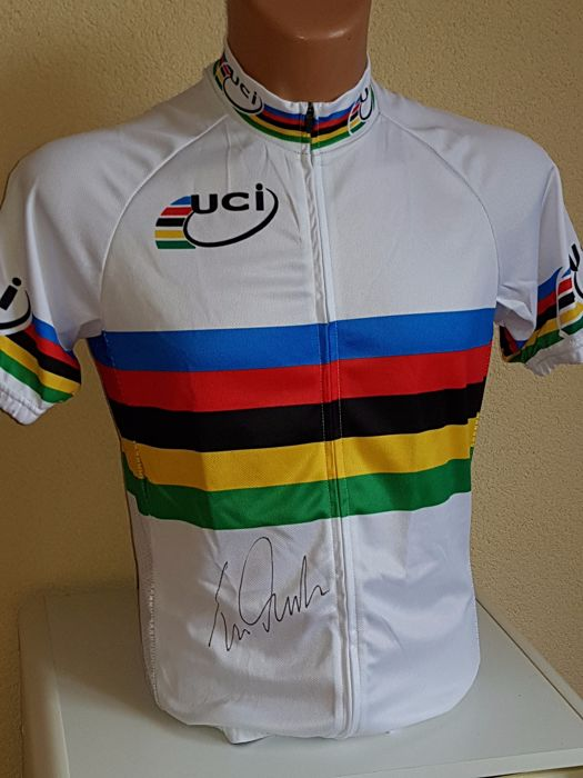 Tom Dumoulin - Rainbow jersey - Hand-signed + COA
