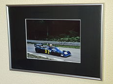 Jody Scheckter - Worldchampion Formula 1 - World famous 6 wheeler - hand signed framed photo + COA.