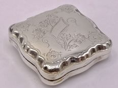 Large handmade antique silver peppermint box, Th. & P. Moerkerk & Co, Haarlem