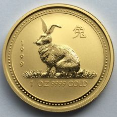 Australia – 100 dollars 1999 'Year of the Rabbit' – 1 oz silver