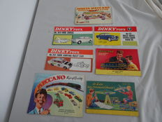 Reference books - Lot with Meccano Catalogues and shop advertising by Dinky Toys