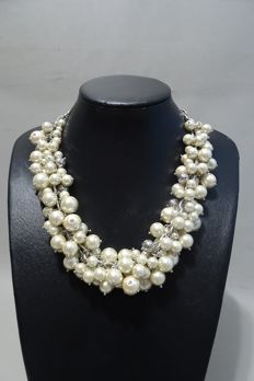 Isaac Mizrahi - simulated pearls necklace - 44/49 cm