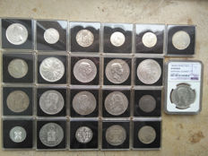 World - various silver coins 1787-1969
