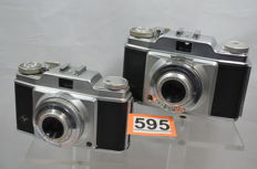 2x Agfa silette type 1 and 2