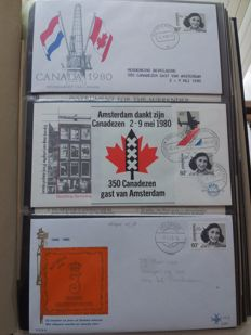 Netherlands - collection +/- 880 FDCs, covers and postal items with many themed Armed Forces and WWII.