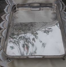 Spanish Solid Silver Serving Tray from the mid 20th century