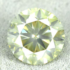 Diamond - 1.21 ct, Si1 - Natural Fancy Greenish Yellow - VG/VG/VG