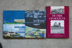 Lot with 3 books about water management in The Netherlands - 1993/2004