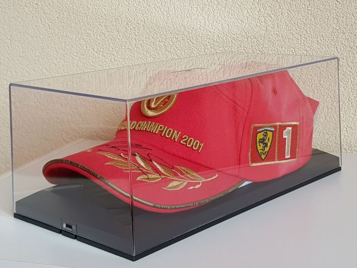 Michael Schumacher - Originele Cap - hand gesigneerd in ovp displaycase + COA