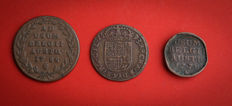 Austrian Netherlands - 1 liard 1693, 2 liards 1778 and 1788 Maria Theresa & Joseph II (lot of 3 coins)
