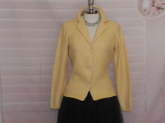 Loro Piana - vintage cardigan yellow ladies' top knot jacket
