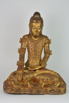 Seated Buddha, Bhumisparcha Mudra - Burma - second half of the 20th century