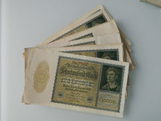 Germany - various denominations 1922/29 - 107 banknotes