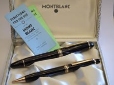 "Extraordinary Montblanc ""Masterpiece"" Duo-set - 1950's. 146 fountain pen and 172 mechanical pencil - Box/papers - New and unused"