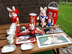 Various advertising objects Coca Cola , Duracel , Nivea