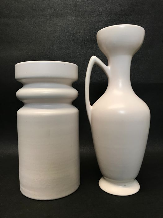 2 Big Design Vases By Flora Keramiek Gouda Holland Catawiki