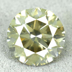 Diamond - 1.36 ct, Si1 – Natural Fancy Intense Yellowish Green – VG/VG/VG