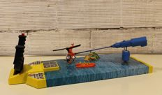 Congost, Spain - length 67 cm - game SOS Helicopter in plastic/metal shape engine with battery, early 1970s