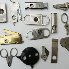 13 various cigar cutters - various countries - appprox 1925