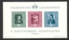 "Liechtenstein 1936/1949 - block 2/5 and sheetlet ""St. Lucius"", Michel block 2/5 and 347 sheetlet"