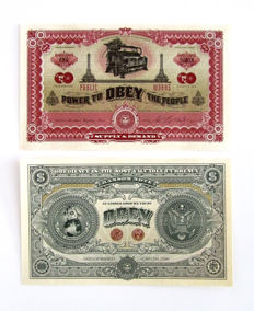 Shepard Fairey (OBEY) - Two Sides of Capitalism Currency